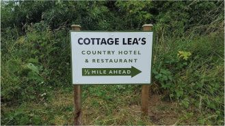 cottage lea's sign.